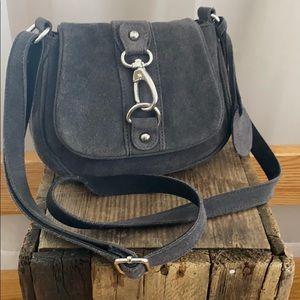 Poppie Jones Suede small grey purse EUC